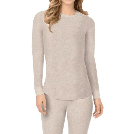 Cuddl Duds Thermal Top - Crew Neck, Long Sleeve (For Women)