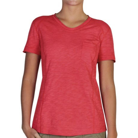 ExOfficio Techspressa Vee Shirt - UPF 50+, V-Neck, Short Sleeve (For Women)