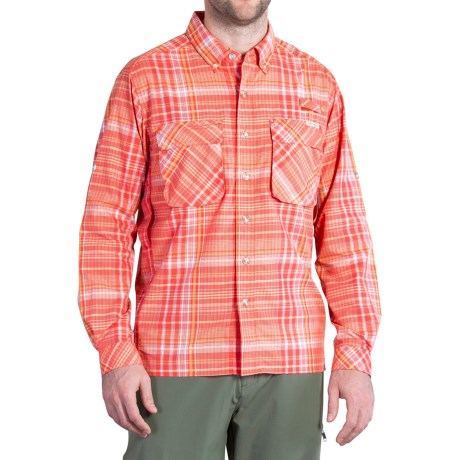 ExOfficio Air Strip Macro Plaid Shirt - UPF 30+, Button Front, Long Sleeve (For Men)