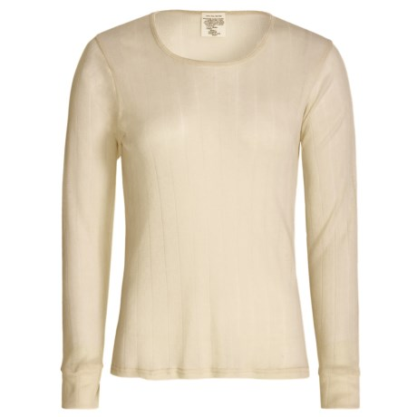Wickers Pointelle Base Layer Top - Long Sleeve (For Women)
