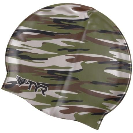 TYR Camo Swim Cap (For Men and Women)