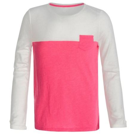 Slub Knit Shirt - Long Sleeve (For Little and Big Girls)
