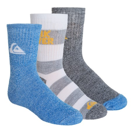 Quiksilver Crew Socks - 3-Pack (For Big Boys)