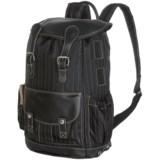 Wisecracker Royal Army Rucksack - Leather Trim