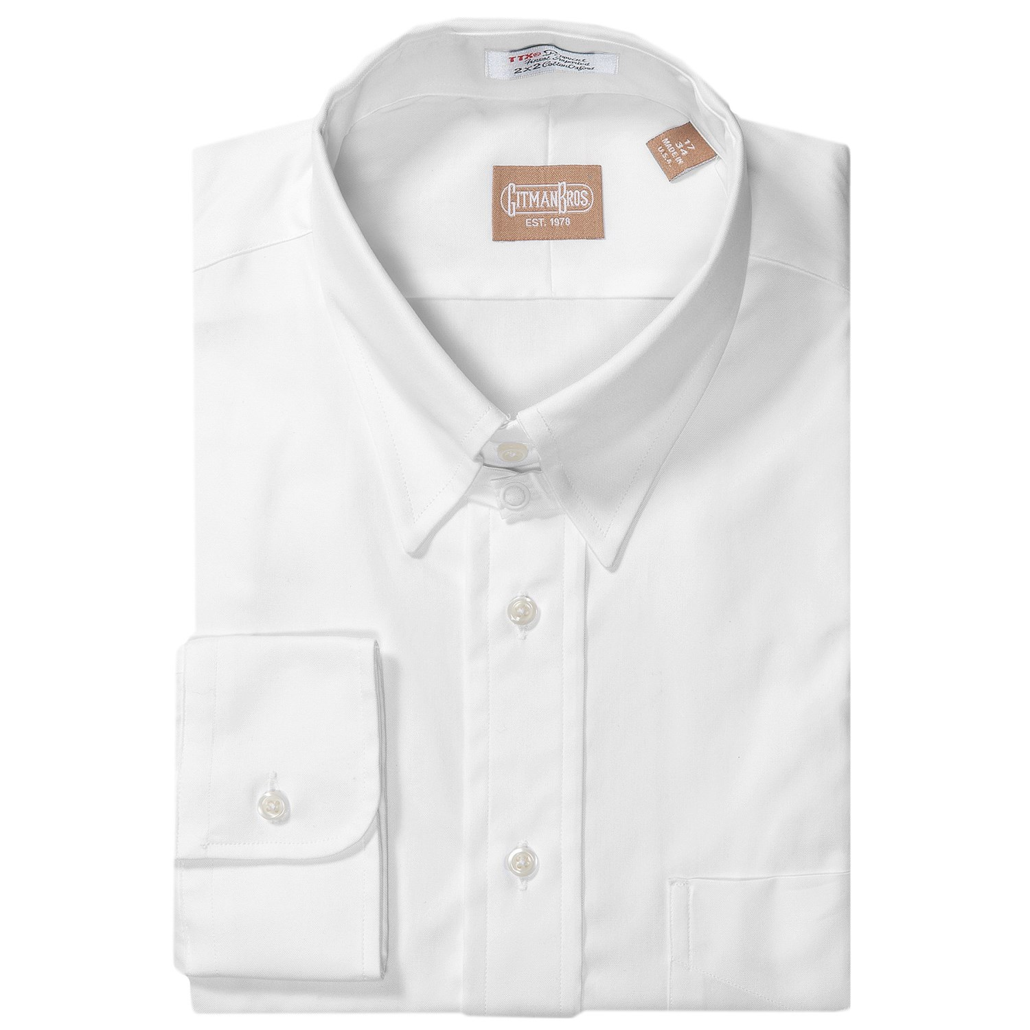 Gitman Brothers Pinpoint Cotton Dress Shirt For Men