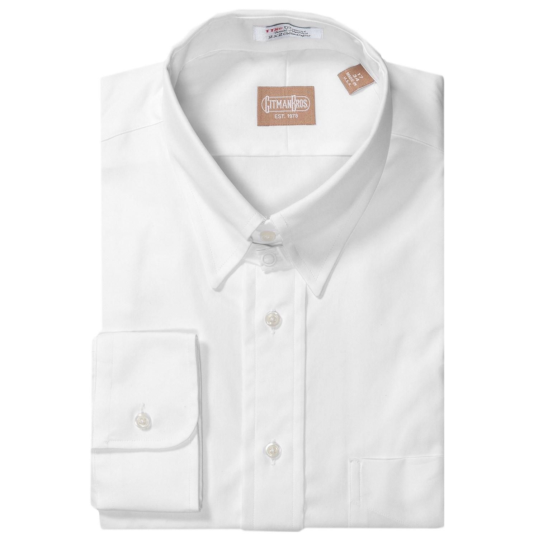 Gitman brothers pinpoint cotton dress shirt for men for Mens tab collar dress shirts