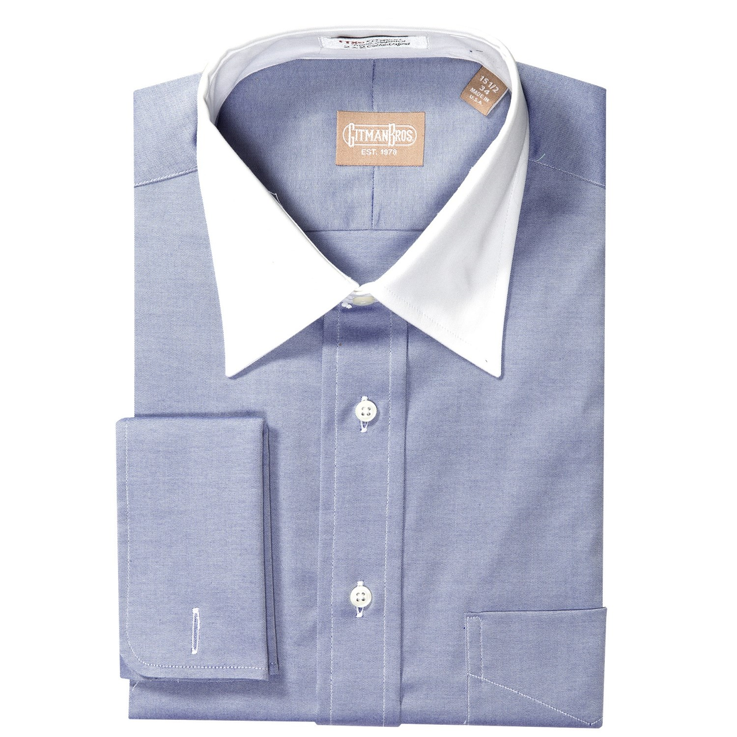 Gitman Brothers Pinpoint Oxford Dress Shirt For Men