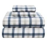 Azores Home 5.9 oz. Flannel Plaid Sheet Set - Full, Deep Pocket