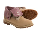 Timberland Earthkeepers Authentic Canvas Fold-Down Boots - Nubuck (For Women)