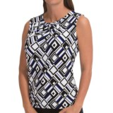 Specially made Pleat-Neck Shirt - Sleeveless (For Women)