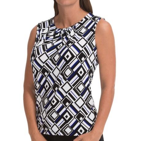 Pleat-Neck Shirt - Sleeveless (For Women)