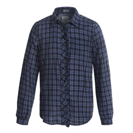 J.A.C.H.S. Tartan Plaid Shirt - Long Sleeve (For Big Girls)