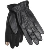 Auclair Glace Gathered-Cuff Leather Gloves - Touchscreen Compatible (For Women)