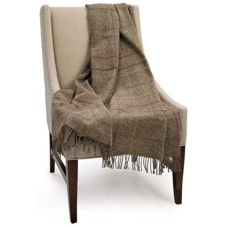 Bronte by Moon Skye Check New Wool Throw Blanket - 55x72""