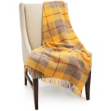 Bronte by Moon Block Check New Wool Throw Blanket - 55x72""