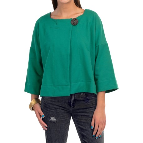 Neon Buddha Charming Jacket - French Terry, 3/4 Sleeve (For Women)