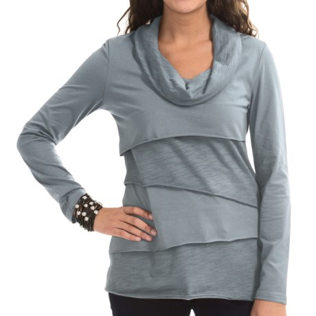 Neon Buddha Stretch Jersey Travel Cowl Shirt - Long Sleeve (For Women)