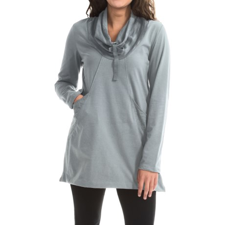 Neon Buddha Stretch Jersey Fanciful Slub Tunic Shirt - Long Sleeve (For Women)
