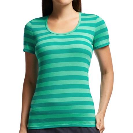 Icebreaker Tech Lite Stripe T-Shirt - UPF 20+, Merino Wool, Short Sleeve (For Women)