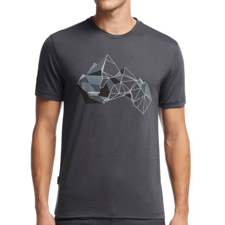 Icebreaker Tech Lite Glass Mountain T-Shirt - Merino Wool, Short Sleeve (For Men)