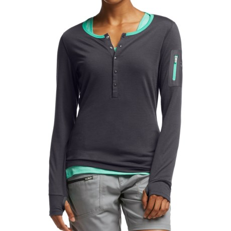 Icebreaker Terra Henley Shirt - UPF 20+, Merino Wool, Long Sleeve (For Women)