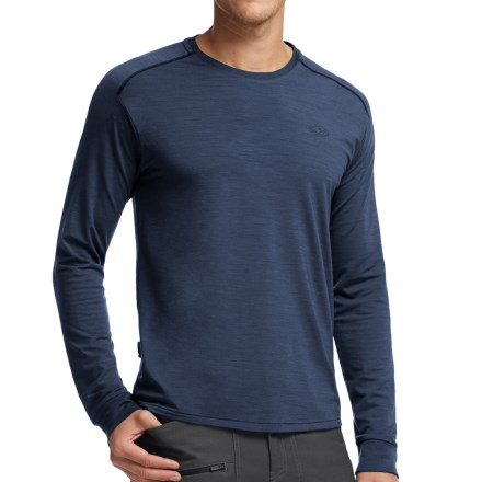 Icebreaker Cool-Lite Sphere Shirt - UPF 30+, Merino Wool, Long Sleeve (For Men) in Admiral Heather/Admiral Heather - Closeouts