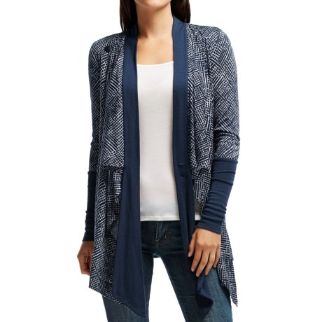 Icebreaker Bliss Mosaic Wrap Cardigan Sweater - UPF 30+, Merino Wool (For Women)