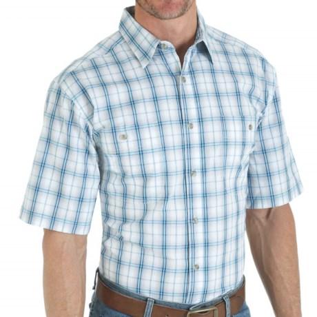 Wrangler Rugged Wear Plaid Shirt - Short Sleeve (For Men)