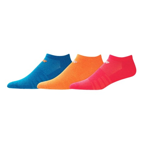 New Balance Lifestyle No-Show Socks - 3-Pack (For Women)