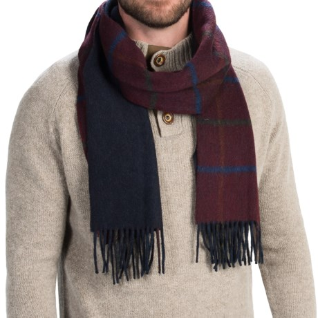 """Bronte by Moon Lambswool Scarf - 70x19"""" (For Men and Women)"""