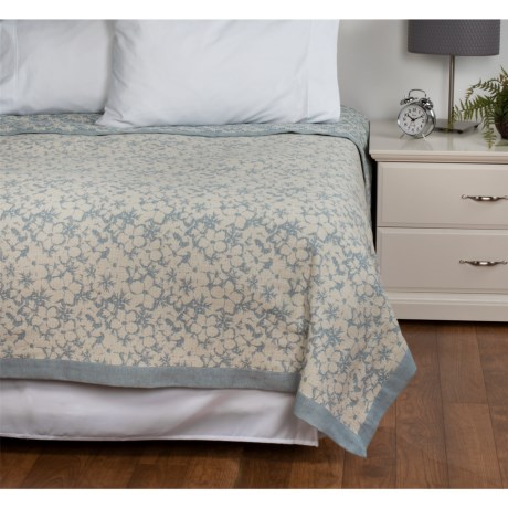 DownTown Kasey Abstract Floral Cotton Blanket - Twin
