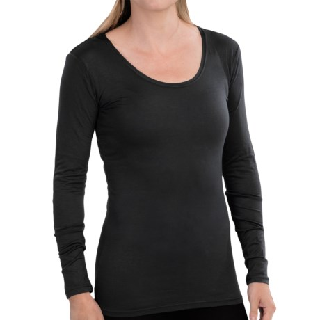 Weatherproof 32 Degrees Base Layer Top - Scoop Neck, Long Sleeve (For Women)