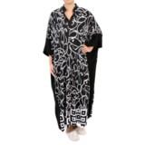 Diamond Tea V-Neck Caftan - 3/4 Sleeve (For Women)