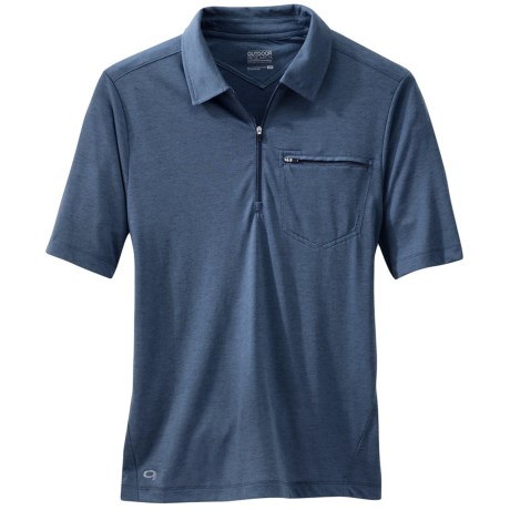 Outdoor Research Sequence Polo Shirt - Zip Neck, Short Sleeve (For Men)