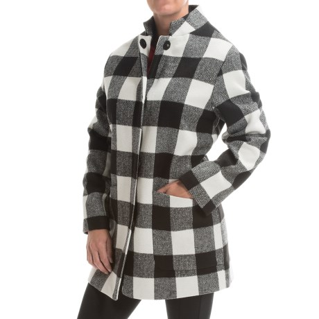 Jones New York Plaid Coat (For Women)