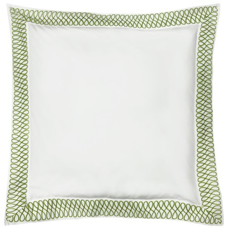 DownTown Designer Pillow Sham - Euro, 400 TC Cotton Percale