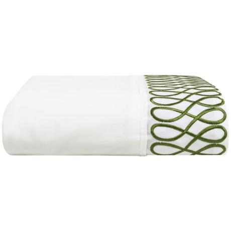 DownTown Designer Flat Sheet - Twin, 400 TC Cotton Percale