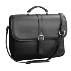 Aston Double Compartment Briefcase with Laptop Sleeve