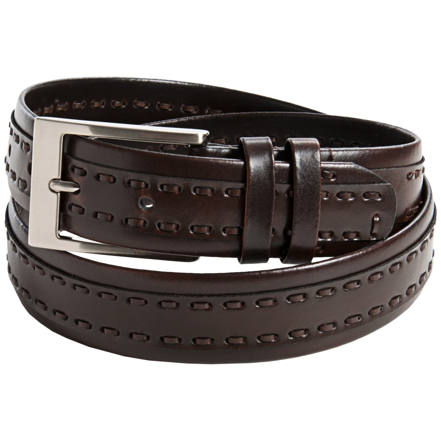 leather island by bill lavin stitched leather belt for