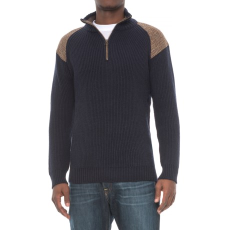 Peregrine by J.G. Glover Dave Sweater - Merino Wool, Zip Neck (For Men)