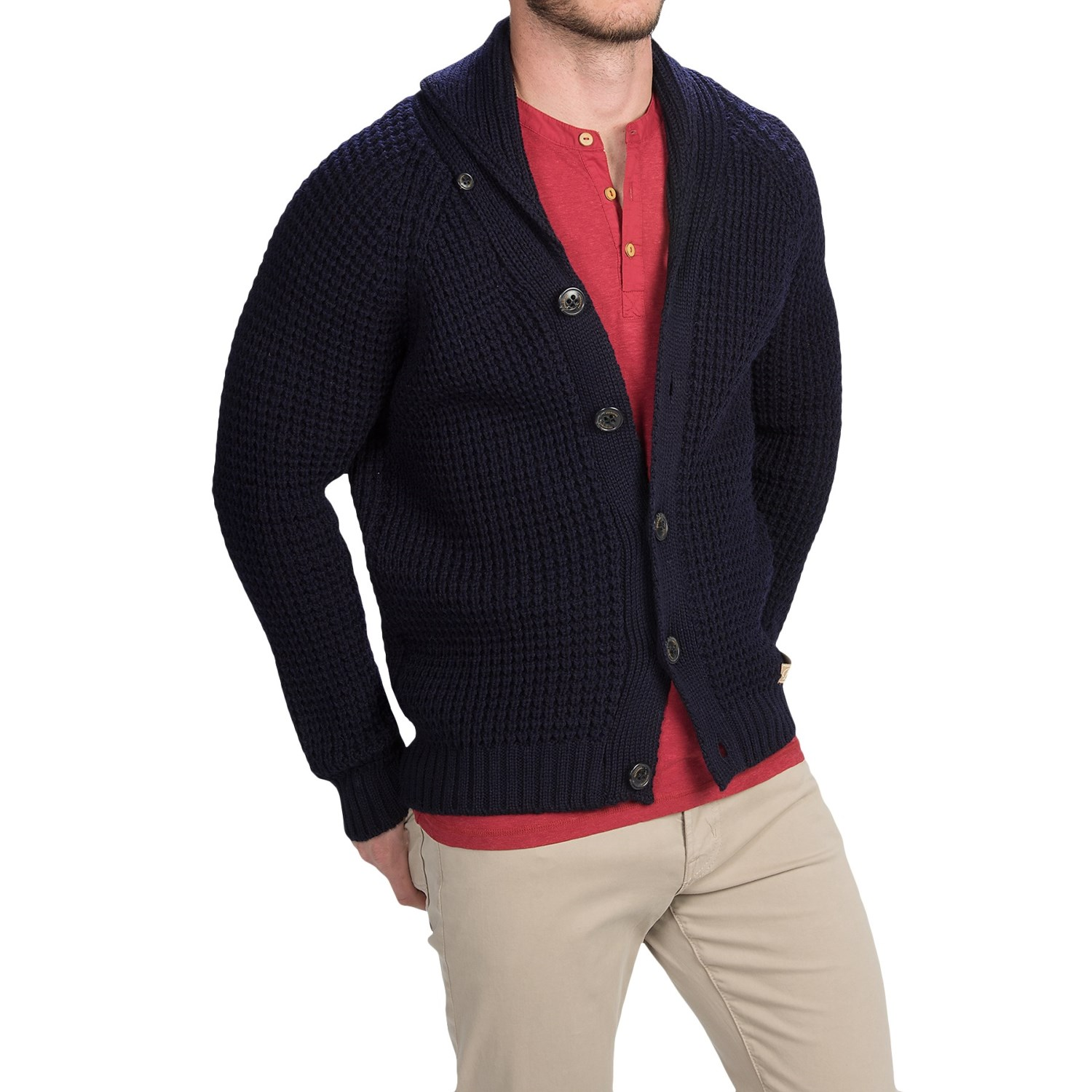 Peregrine by J.G. Glover Shawl Collar Cardigan Sweater , Merino Wool (For Men). Item 9752A. Peregrine by J.G. Glover Shawl Collar Cardigan Sweater