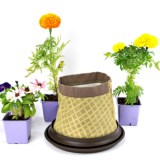 Arcadia Garden Products Frusto Fabric Pot Planter and Saucer