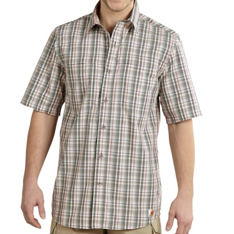 Carhartt Force Mandan Plaid Shirt - Short Sleeve (For Big and Tall Men)