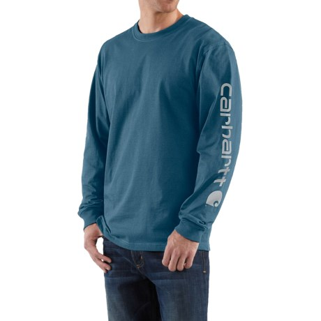Carhartt Graphic T-Shirt - Long Sleeve, Factory Seconds (For Big Men)