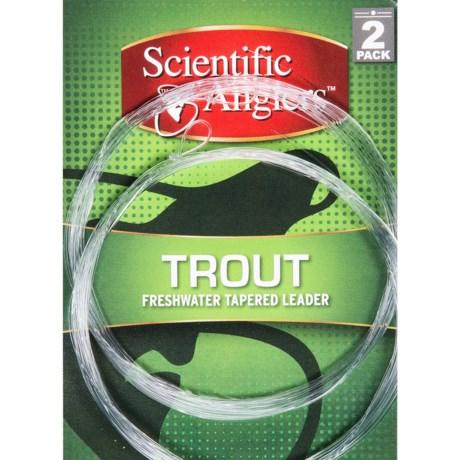 Scientific Anglers Premium Freshwater Trout Leaders - Loop, 2-Pack, 12'