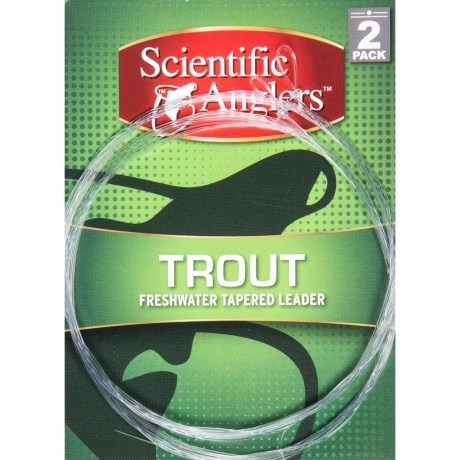 Scientific Anglers Premium Freshwater Trout Leaders - Loop, 2-Pack, 7.5'
