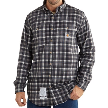 Carhartt Flame-Resistant Classic Plaid Shirt - Long Sleeve, Factory Seconds (For Big and Tall Men)