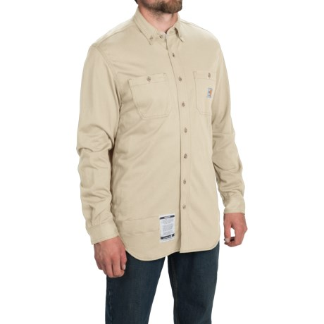 Carhartt Flame-Resistant Carhartt Force® Shirt - Long Sleeve, Factory Seconds (For Big and Tall Men)