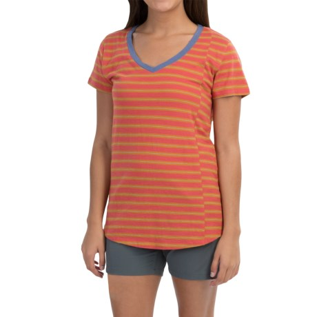 Toad&Co Slubstripe T-Shirt - Organic Cotton, Short Sleeve (For Women)