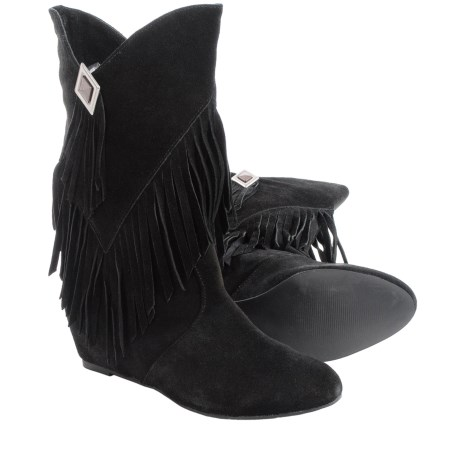 Obsession Rules Hopey Suede Boots - Hidden Wedge Heel (For Women)